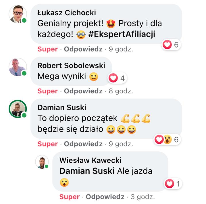 Łukasz, Robert, Damian, Wiesław - opinie o Ekspert Afiliacji